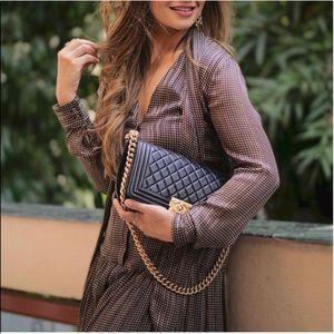 NWT ZARA Printed Dress With Belt M Blogger Fav